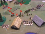 The Saxon counterattack destroys two Viking units. The Vikings depart, satisfied with their captured pigs, chickens and children.
