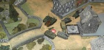 What little is left of the first infantry unit across the bridge is pinned down.