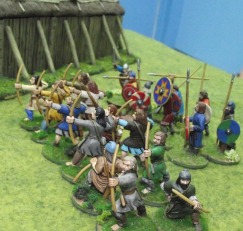 Saxons form up to receive the attack.
