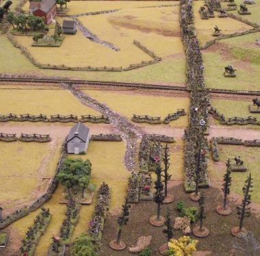 Frontal assault at Franklin, November 1864. Fire & Fury Brigade, 10mm ACW