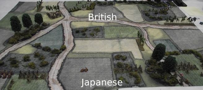 The Japanese will get the most victory points for exiting units off the table behind the British lines.