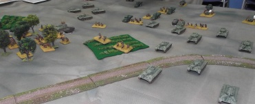 The Russians advance on the town.
