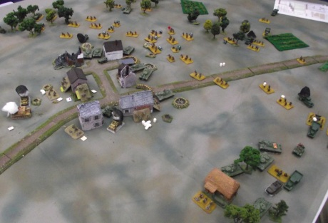 Russian tank and artillery fire has reduced the Fallschirmjager to about half strength.