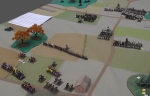 Top right: Order knights are fought to a standstill by Polish infantry. Polish Knights all but destroy an Order mounted division.