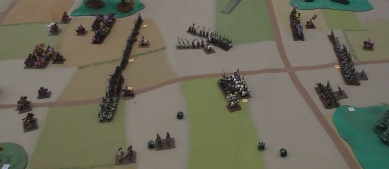 The Order attack to the west has failed and the Polish knights are finally ready to charge the Order foot.