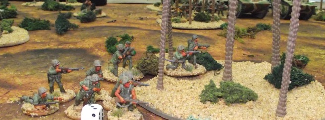 Pins keep some Marine units from advancing.