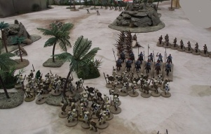 Ansar infantry reinforcements arrive and clash with British cavalry.