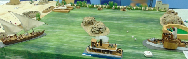 A large Dhow appears suddenly to block the British advance...