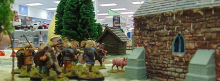 Vikings plunder the church and find.... a pig!