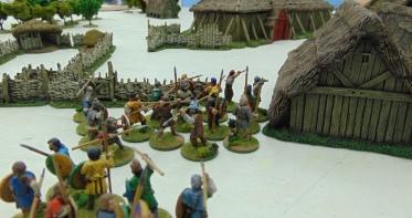 Saxons organize their men.