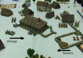 Both sides enter the village.