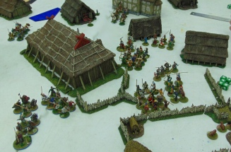Vikings attack via two routes.