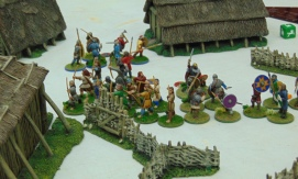 The victorious Saxons hold their ground.