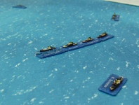 The Russian rear division follows the remaining ships of the first division.