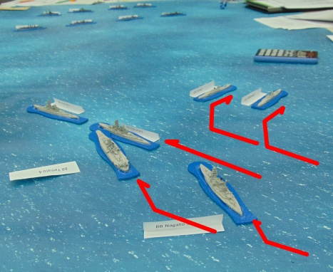 Careful maneuvering avoids collisions as the Japanese deploy.